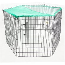 Rabbit & Guinea Pig Pen, Metal Outdoor Run, With Sunshade LB-APL