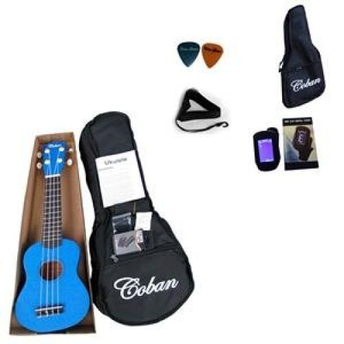 Coban Dark Blue Ukulele Complete package reduced price cause slight paint marks