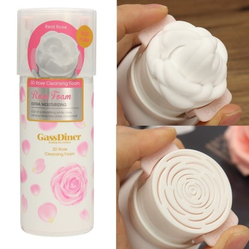 3D Rose Face Wash Foaming Cleanser Moisturizing Nourishing Skin Care Acne Blackhead Remover Face Cle