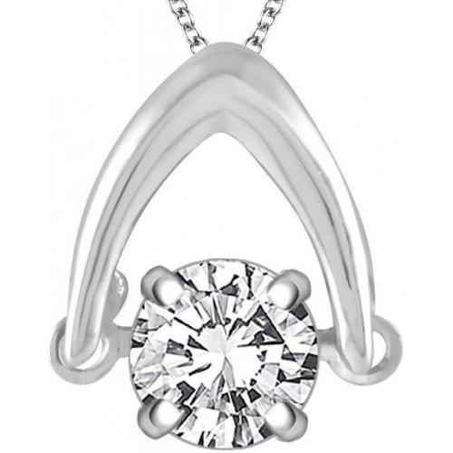 Solitaire Sparkling G Vs2 Diamond 1.50 Carat Necklace Pendant Gold White 14K