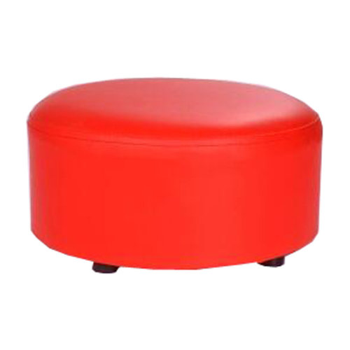 Creative Round Modern Small Faux Leather Stool Shoes Stool  Sofa Pier, Red