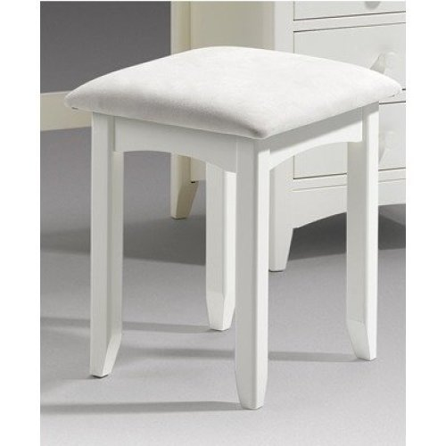 Treck White Stone Dressing Stool - Fully Assembled Option