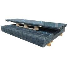vidaXL 2D Garden Fence Panels & Posts 2008x1630 mm 12 m Grey
