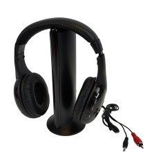 Deluxe Wireless Stereo Head Phones W/radio In Prtd Box -  new sound republik 5 1 wireless headphones integraded fm radio