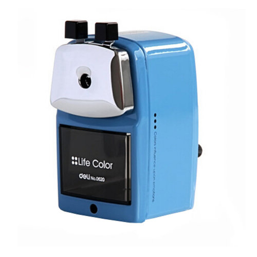 Pencil Sharpener, bule, Quiet for Office, Home and School