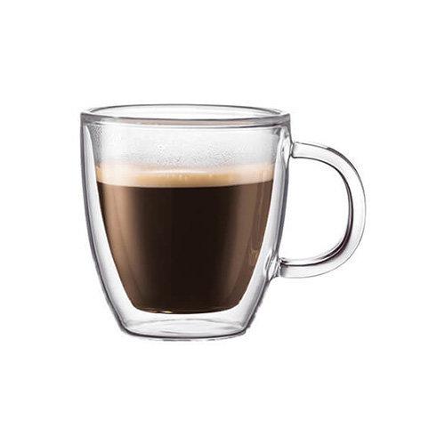Bodum Bistro Double Wall Glass Espresso Mug Set Of 2