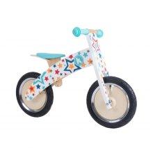 Kiddimoto Kids Kurve Wooden Balance Bike - Stars Design