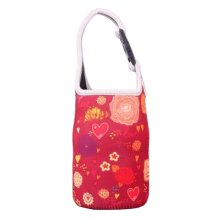 Lovely Baby Bottle Tote Bag Food Jar Tote Bag Insulated Lunch Box Bag Heart