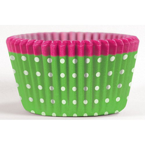 Cupcake Creations Greaseproof Cake Cases, Pack of 32, Green Dots