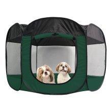 Medium Green Playful Pets Play Pen. - Pen Puppy Dog Pet Rabbit Cage Animal -  play pen puppy dog pet rabbit cage animal playpen run folding fabric