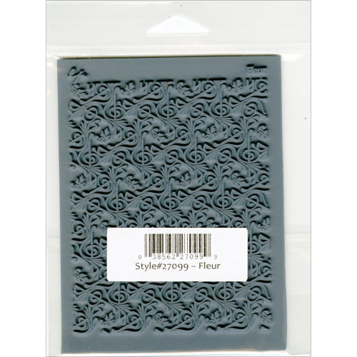 """Lisa Pavelka Individual Texture Stamp 4.25""""X5.5""""-Fleur"""