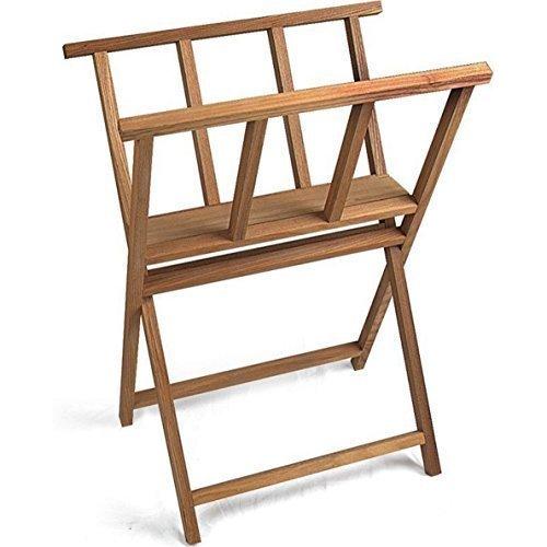 Beechwood Heavy Duty Print Storage Rack Wooden Artwork Display Browser Stand BH-2