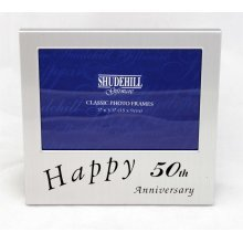 Happy 50th Anniversary 5 x 33 photo Frame by Shudehill giftware
