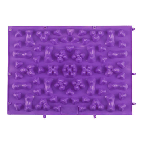 TPE Acupressure Foot Massage Mat Shiatsu Pressure Slab Toe Pad Purple A