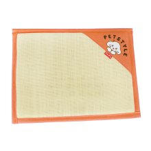 Natual Soft Pet Dog Bed Mat Double Sided Dual-use Straw Mat ORANGE, 53*38cm