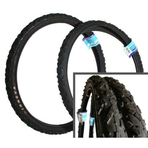 "TWO 26"" X 2.0"" INNOVA HYBRID MOUNTIAN BIKE BICYCLE TYRES TIRES BLACK NEW pair"