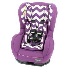 Obaby Group 0-1 Combination Car Seat - Zigzag Purple