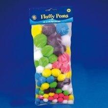 Pbx2470010 - Playbox - Fluffy Poms (neon -mix 2) - 100 Pcs