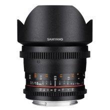 Samyang 10 mm T3.1 VDSLR II Manual Focus Video Lens for Canon DSLR Camera