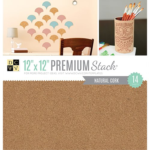 """DCWV Specialty Stack 12""""X12"""" 14/Pkg-Natural Cork"""