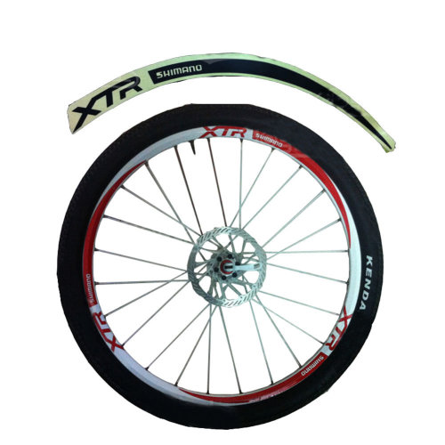 [BLACK]Unique Colour XTR 12 Pics Cool Bike Rim Sticker Wheel Decal Sticker