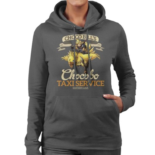 Chocobo Taxi Service Final Fantasy VII Women's Hooded Sweatshirt
