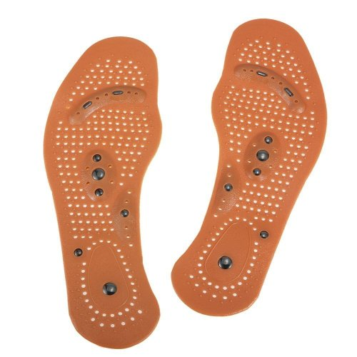 Anself 1Pair Magnetic Therapy Health Care Foot Massage Insoles
