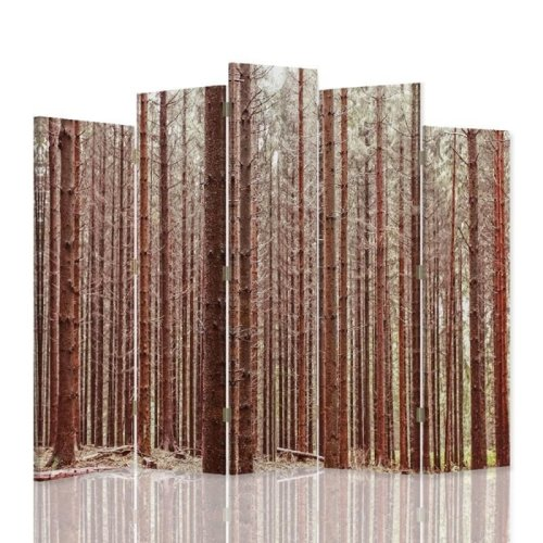Alpine Forest Screen/Room Divider cm. 180x180 (5 panels)