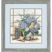 D35166 - Dimensions Counted X Stitch - Hydrangeas and Shells