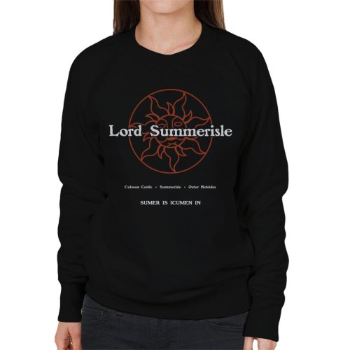 The Wicker Man Lord Summerisle Business Card Women's Sweatshirt