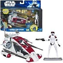 Star Wars The Clone Wars Republic Scout Speeder With ARF Trooper