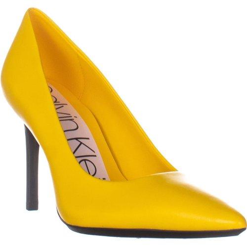 Calvin Klein Rizzo Nappa Classic Pumps, Yellow Haze, 4.5 UK