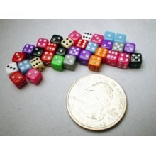 Miniature Dice: Assorted Opaque 5mm d6 (30)