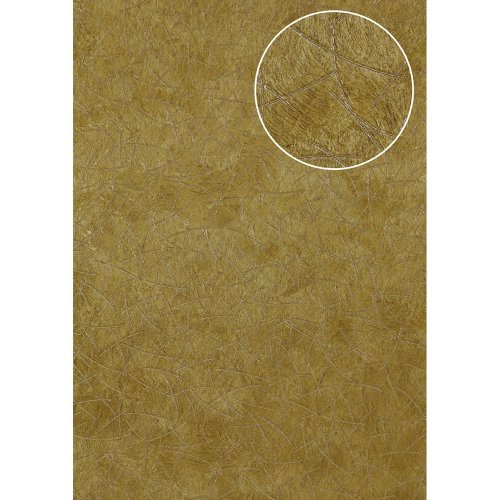 Atlas STI-5106-4 Graphic wallpaper shimmering olive-yellow ochre 7.035 sqm