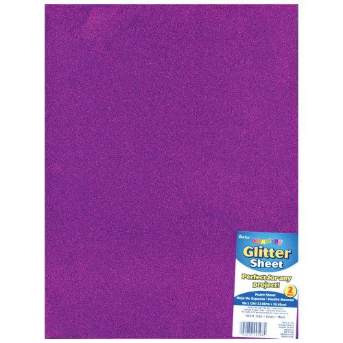 """Glitter Foam Sheet 9""""X12"""" 2mm-Purple"""
