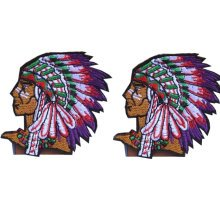 """Set of 2 Creative Indian Patches Embroidery Applique Badge Armband 2.4*3"""""""