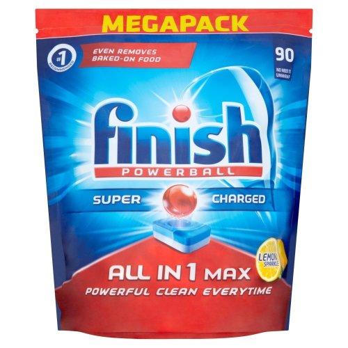 Finish All-In-One Max Lemon Dishwasher Tablets Megapack - 90 Tablets