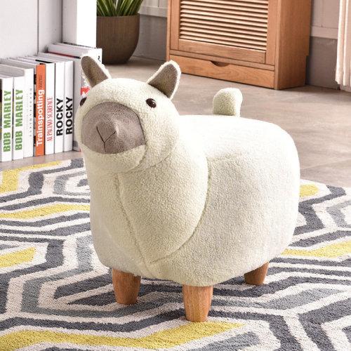 Animal Foot Stool Alpaca Manmade Wool Choice of Animals
