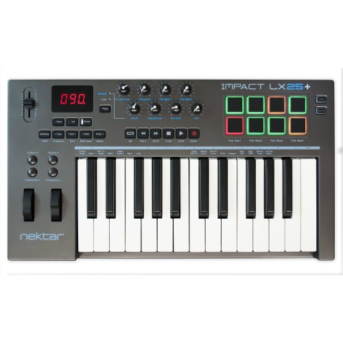 Nektar Impact LX25+ USB MIDI Keyboard Controller with DAW Integration