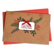 Christmas Cards Greeting Cards Christmas Gift Beauitful Xmas Cards (4 Cards and Envelopes), Brown #6