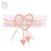 Bride To Be Heart Garter Women's Fancy Dress -  garter bride heart pink hen
