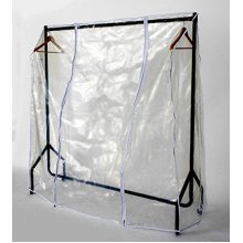 Transparent Clear Protection Clothes Hanger Rail Cover [3ft - 5ft]
