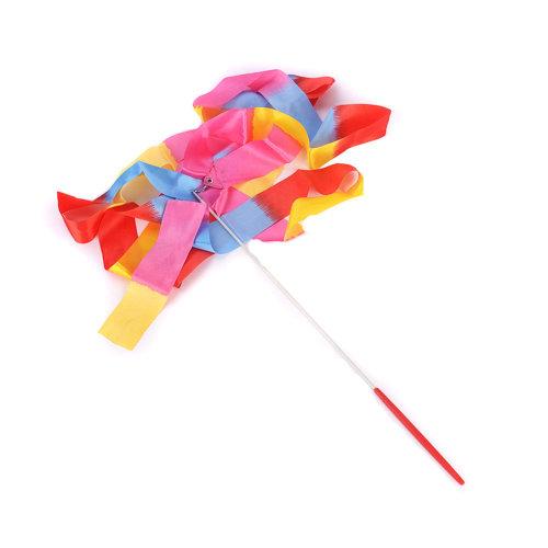 Gym Dance Ribbon Rhythmic Art Gymnastic Streamer Twirling Rod Stick Colorful