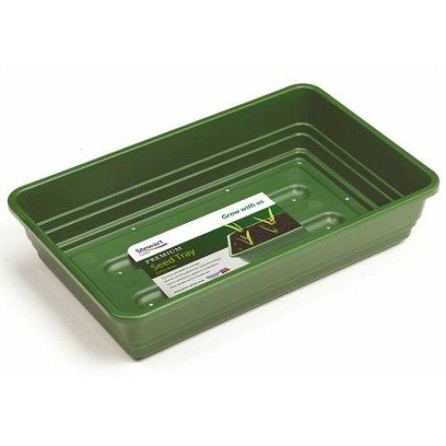 Stewart Garden Premium Extra Deep Seed Tray with Holes - 22cm - Dark Green (2333004)