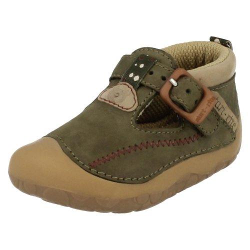 Boys Startrite Casual Pre Walker Shoes Tiny - Khaki Nubuck - UK Size 2H - EU Size 17.5 - US Size 3