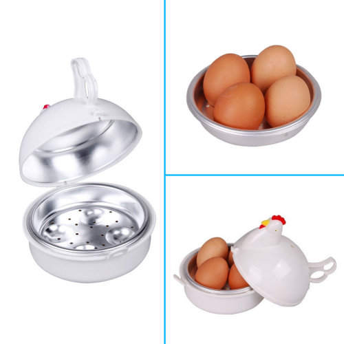 Microwave 4 Eggs Boiler Cooker Poacher Boiled Chicken Shaped Kitchen Cooking Tool