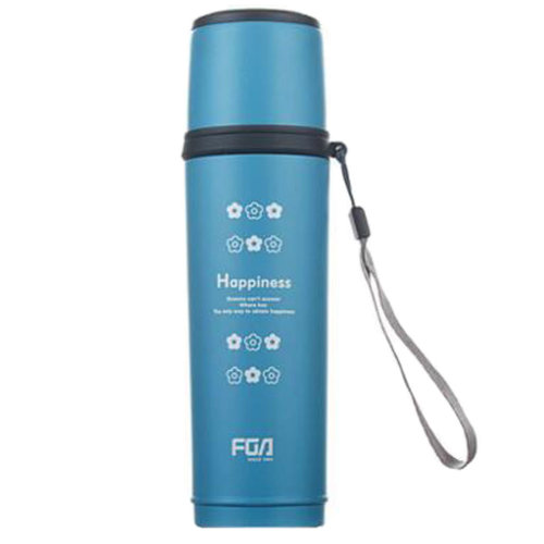 Portable Water Bottle Drinks Cup Vacuum Stainless Steel Insulated, Blue