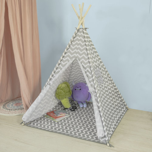 SoBuy® OSS03, Children Kids Play Tent Playhouse Teepee with Floor Mat