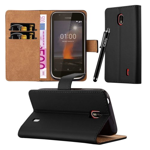 For Nokia 1 Premium Leather Wallet Case Cover