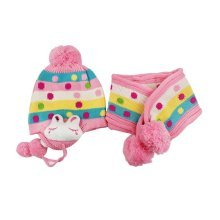 Baby Winter Hat&Scarf Warm and Lovely Baby Cap&Scarf, Pink